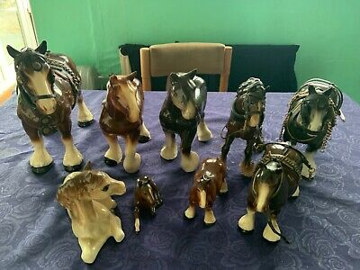 9 Various Horse/shire Ornaments For Sale • 20£