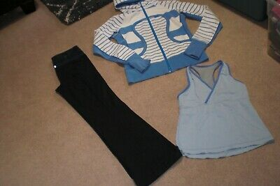 $ CDN75 • Buy Lot Of Lululemon Groove Pants, Limited Edition Hoodie And Tank Top Sz 6