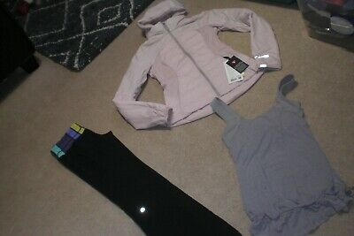 $ CDN195 • Buy Lot Of Lululemon Groove Pants, BNWT Down For It All Jacket And Tank Sz 6