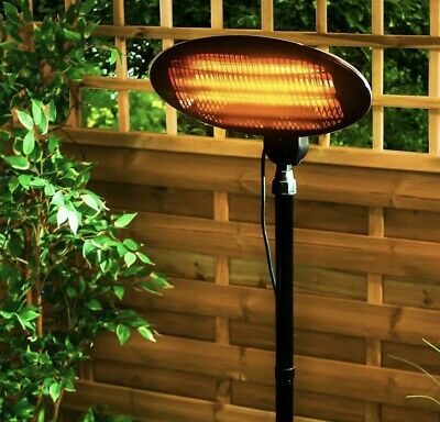 2KW Free Standing Electric Patio Heater Garden Outdoor 2000W • 79£