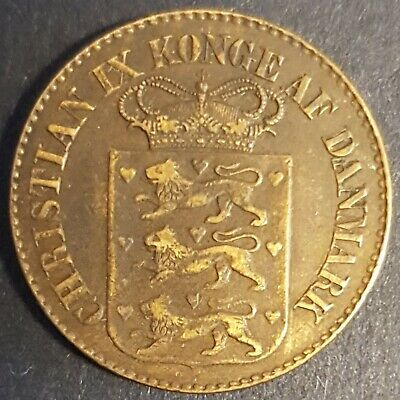 Danish West Indies, 1 Cent, 1878, Only 20,000 Minted, AU, One Of The Finest • 200£