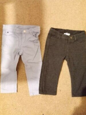 Boys Jacadi Trousers. 2 Pairs. Blue And Grey. Size 81cm/18 Months • 0.99£