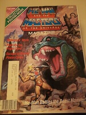 $9.99 • Buy Vintage He-Man And Masters Of The Universe Magazine Fall 1985 Complete Poster
