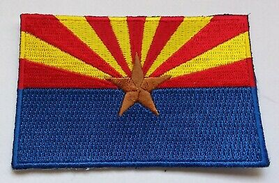 ARIZONA STATE FLAG PATCH United States Of America Embroidered Badge 6 X 9cm USA • 2.49£