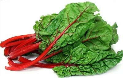 💯 Red Swiss Chard Seeds Spinach Cabbage 25 Clusters Rhubarb Vegetable 100 • 1.49£