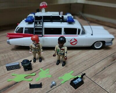 PLAYMOBIL GHOSTBUSTERS  Ecto-1 Figures EUC! Light & Sound Works Great!  • 40.52£