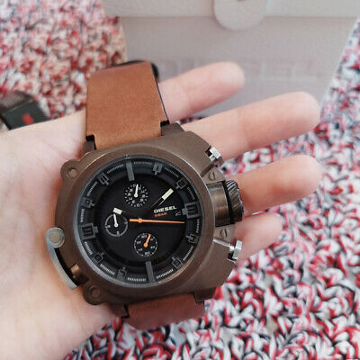 $ CDN195 • Buy Diesel Men's Watch Brown Ion Plated Chronograph With Light DZ4245 NEW