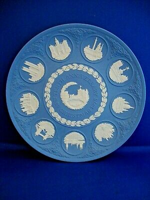 Wedgwood Pale Blue Jasperware Christmas Plate 10th Anniversary Boxed • 12.95£
