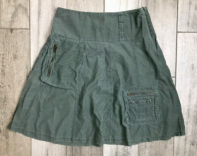 $22.19 • Buy American Eagle Skirt Size 6 Military Army Olive Green Zip Pockets Fast Shipping