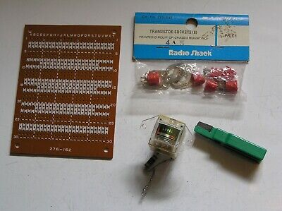 Radio Shack Transistor Sockets, Circuit Board And Level Meter. • 2.99£
