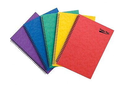 A4/A5/A6/A7 Notebooks Ruled Lined Reporters Notepad Spiral Wiro School Jotta • 3.59£