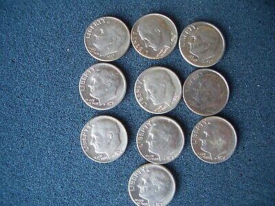 10 USA TEN Cent Coins Or DIMES UNITED STATES OF AMERICA. Holiday Money  • 2.90£