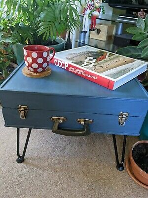 Upcycled Vintage Suitcase Side Or Coffee Table • 59£