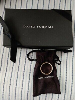 $275 • Buy David Yurman Men's Cable Collection Sterling Sliver Ring Size 10
