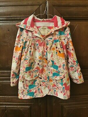 Hatley Girls Raincoat Age 5. Pink Horses And Flowers Print. Immaculate Condition • 3£