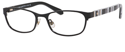 AU116.55 • Buy *new Authentic* Kate Spade Jayla 0qg9 Shiny Black Eyeglass Frame 50mm