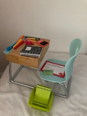 Our Generation Doll School Desk Blue With Accessories  • 29.99£