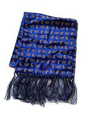 Fred Perry - Navy Tootal Paisley 100% Silk Scarf • 23£