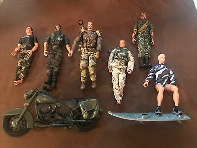 """$ CDN50.87 • Buy GI Joe 12"""" Soldier Articulated Action Figure Lot Motorcycle Backpack Weapon HTF!"""
