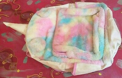 AU7.99 • Buy Kids Backpack Unicorn Theme Fluffy Feel 15d X 40h X 30w