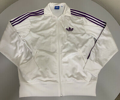 $ CDN44.50 • Buy Adidas Trefoil Track Jacket Purple Trefoil & 3 Purple Stripes Medium M