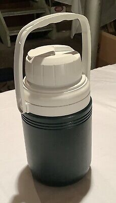 $0.99 • Buy Vintage Coleman 1/3 Gallon Insulated Water Jug Cooler * Model 5542 Green & White
