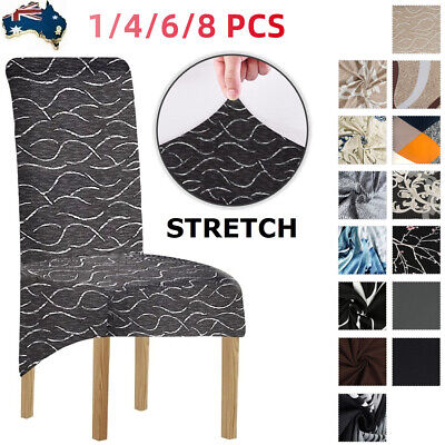 AU13.99 • Buy XL Dining Chair Covers Large Seat Slipcover Banquet Furniture Covers 1/4/6Pcs AU