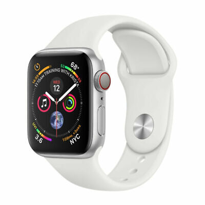 $ CDN572.26 • Buy Apple Watch Series 4 44 Mm Silver Aluminum Case With White Sport Band (GPS +...