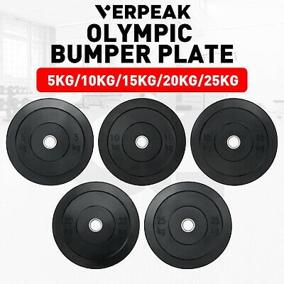 AU69.99 • Buy Verpeak Olympic Bumper Weight Plates 5-25KG Home Gym Workout Fitness Rubber