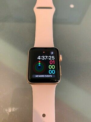 AU153.50 • Buy Apple Watch Series 3 38mm Gold Aluminium Case With Pink Sand Sport Band Cellular