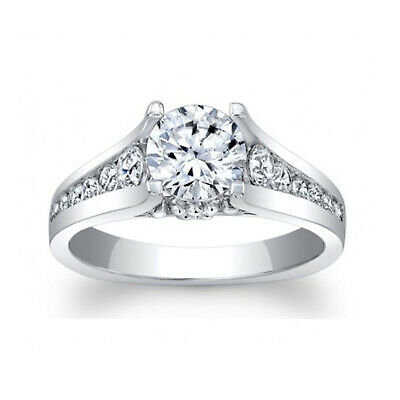 AU1126.48 • Buy Diamond Engagement Ring 1.56 Ct Round Cut Solitaire 14K White Gold Size 5