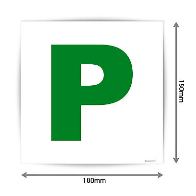 New Driver Just Passed Green P Sign Sticker Vinyl Waterproof V1151 • 8.99£