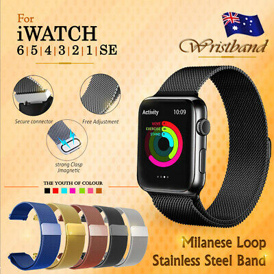 AU9.75 • Buy Milanese Loop Strap For Apple Watch All Series IWatch Stainless Steel Wrist Band
