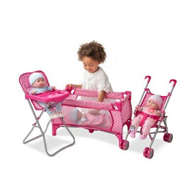 Silver Cross Doll Nursery Set Girls Baby Toy Playset Accessories Gift UK NEW • 41.99£