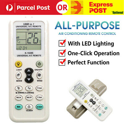 AU10.99 • Buy Universal A/C Air Conditioner Remote Control AirCon For ALL MAJOR BRANDS LCD DGS