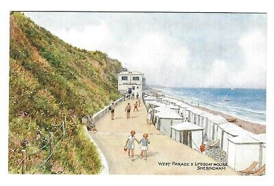 J Salmon Norfolk Card 4234. Sheringham West Parade & Lifeboat House. C.T.Howard • 2.99£