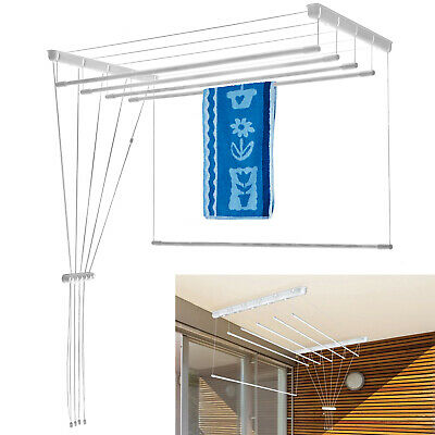 £34.78 • Buy Ceiling Clothes Dryer Laundry Pulley Airer Up To 9.8m Drying Space Rack Kitchen
