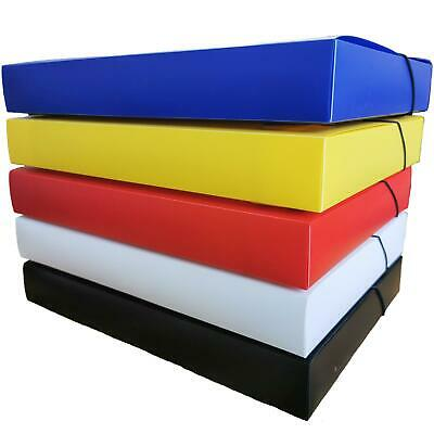 £7.20 • Buy OfficeCentre® A4 Solid Plastic Box File Office Elastic Document Storage Folder