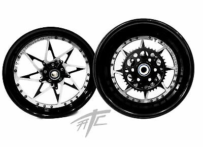 $2899.99 • Buy Gsxr Stock Size Black & Silver Switchback Wheels 01-08 Suzuki Gsxr 1000