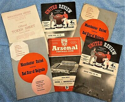 Manchester United   Programmes   1958 Munich Disaster - Busby Babes • 24.99£