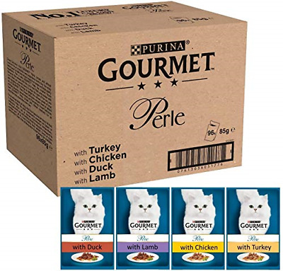 Gourmet Wet Cat Food Perle Country Medley, 96 Pouches, 96 X 85 G • 53.26£