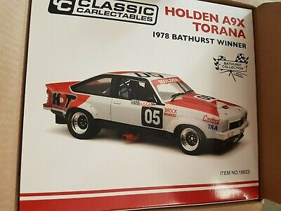 AU499 • Buy BROCK 1:18 Holden A9X Torana 1978 Bathurst Winner CLASSIC CARLECTABLES NEW