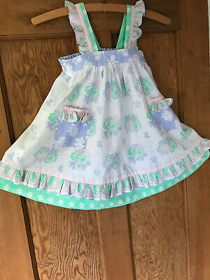 Vintage Clothkits Girl Dress Pinafore 1980s Very Pretty - Very Clean (no Label) • 22£
