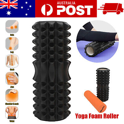 AU22.99 • Buy EVA Grid Foam Roller EPE Yoga Pilates Back Gym Exercise Hard Massage Training AU