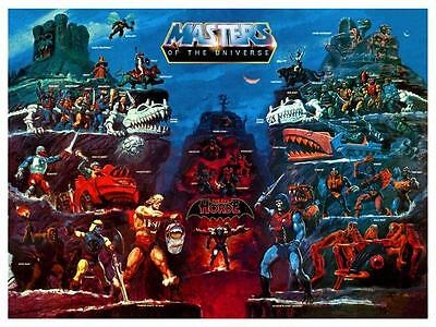 $14.94 • Buy He-Man POSTER Evil Horde Map Masters Of The Universe **VERY LARGE** He Man