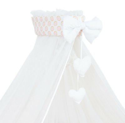 £19.99 • Buy Baby Drape Canopy Mosquito Net With Ribbon ONLY Fits Crib/Cradle Big Teddy Pink