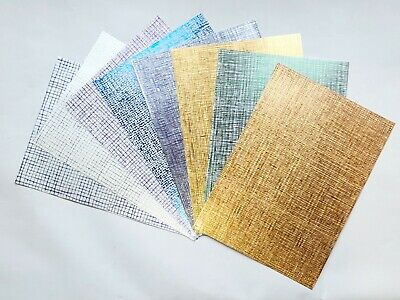 8 X A4 Kanban Metallic Embossed Mirri Card 280gsm- Variety Pack - Just £2.00 (6) • 2£