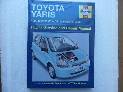 Toyota Yaris Petrol Service And Repair Manual: 1999 To 2005 By HAYNES. 4265 • 12.75£