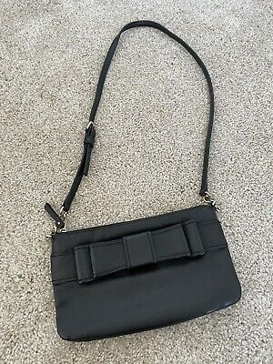 $ CDN6.35 • Buy Kate Spade Black Leather Bow Crossbody Bag