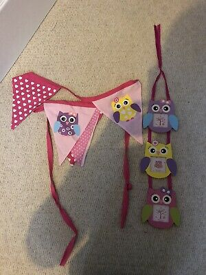 Girls Owl Bedroom Set  • 9.99£